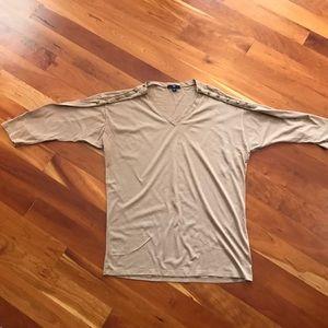 Gap Drop Shoulder Shirt w/ Button Shoulder Detail